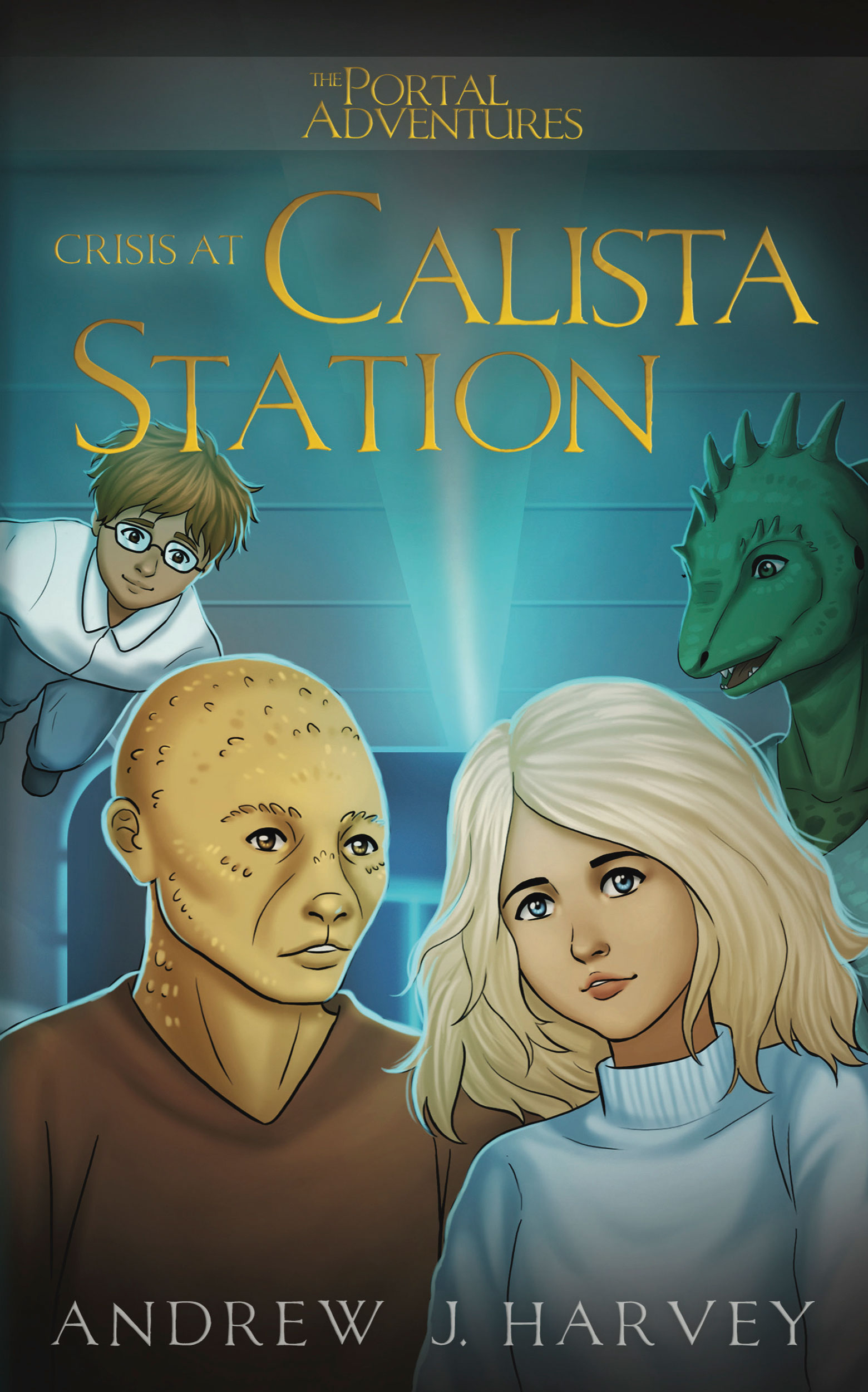 Cover of book showing Tania and Shr'un (with Mark and Windracer in the background)