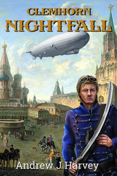 Cover showing Donald in uniform against Zepplin and Red Square in 1802