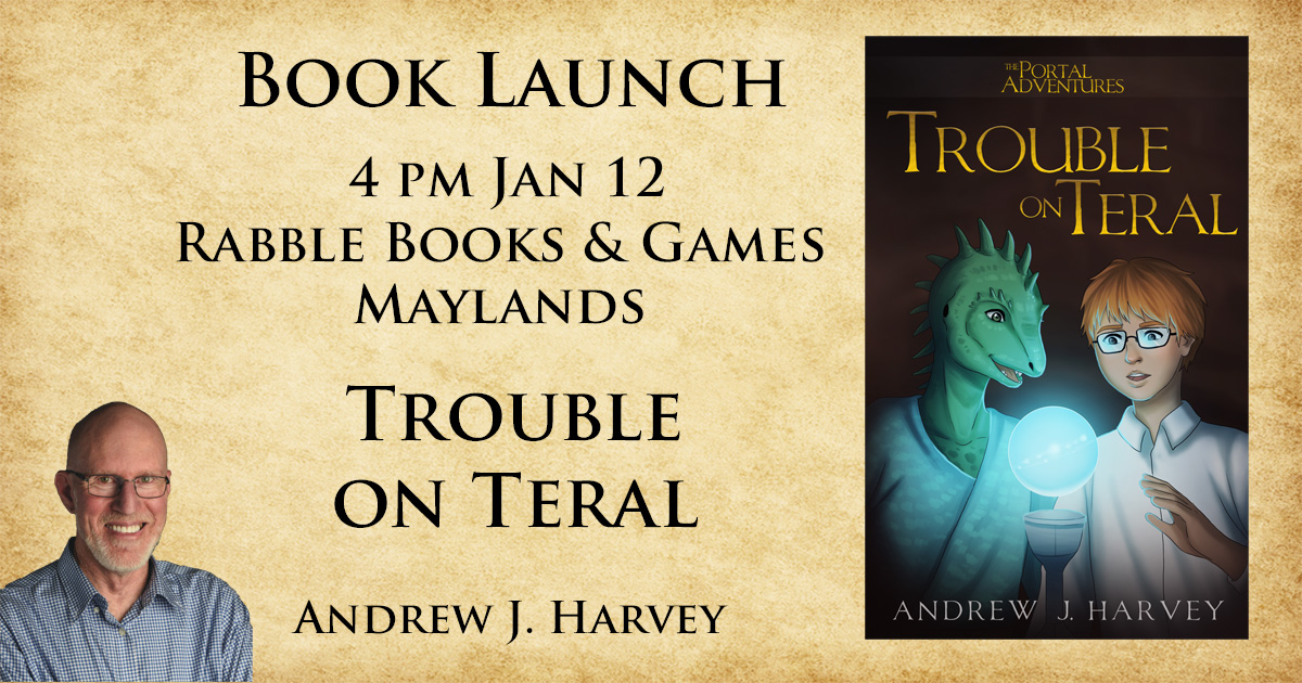Book Launch, 4pm Sunday 12 Jan at Rabble Books and Games, 2/46 Eighth Av Maylands